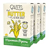 Quinn Snacks Microwave Popcorn - Made with Non-GMO Corn, Real Butter & Sea Salt, 6.9 Ounce (Pack of 3)