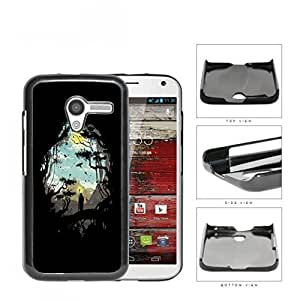 Jungle And Nomad Silhouette Hard Plastic Snap On Cell Phone Case Motorola Moto X
