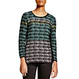 NIC+ZOE Shaded Waves Long Sleeve Top For Women, Petite Small PS