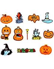 Halloween Iron on Patches,11pcs Pumpkin Shape Embroidered Patches for Halloween Diy Costume Decorations