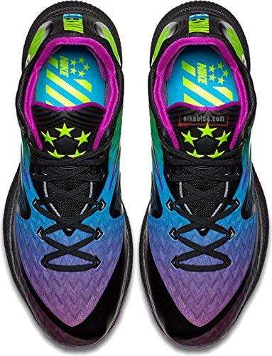 Nike Herren Field General 2 Basketballschuhe Schwarz / Vivid Purple / Volt / Blaue Lagune