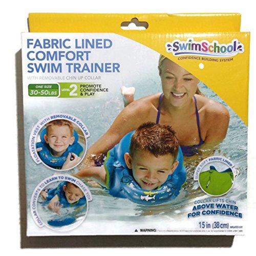 SwimSchool Comfort Swim Trainer by Blue One Size 30-50 lb Level 2 - Level 2 Vest