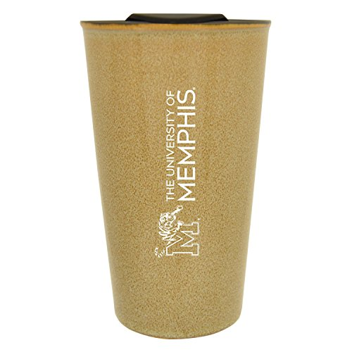University of Memphis |16 oz. Ceramic Tumbler| Tan|Glazed Finish ()