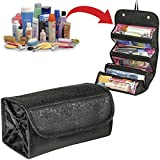 Pindia Black Roll N Go Travel Buddy Toiletry Bag