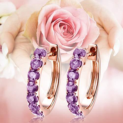 Carleen 14k Solid Gold Natural Ruby Sapphire Tsavorite Amethyst Aquamarine Hinged Huggie Small Cartilage Hoop Earrings Dainty Fine Gemstone Jewelry For Women Girls Diameter 1 2 Inch