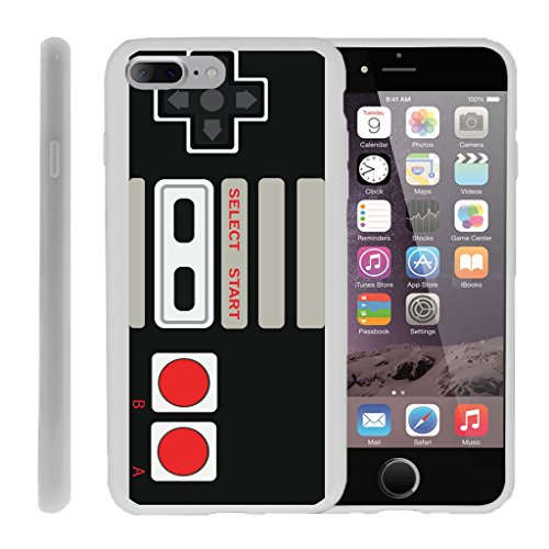 MINITURTLE Case Compatible w/ Case for iPhone 7 Plus | iPhone 7s Plus Flexible Case [FLEX FORCE] Flexible SLim Fit TPU Case Cover w/ Dazzling Designs Retro Controller