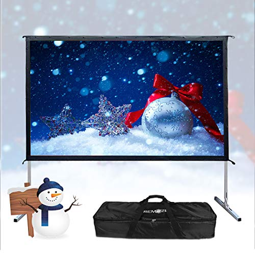 Projector Screen with Stand,100-inch 16:9 4K Projector Screen Portable Outdoor Campaign Movie Indoor Home Theater Projection Screen Assembling -