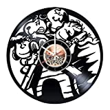 Comic Movie Vinyl Record Wall Clock - Kids Room or Living Rroom wall decor - Gift ideas friends, boys and girls - Movie Unique Art Design