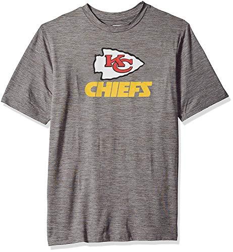 NFL Kansas City Chiefs Men's Tonal Gray Wordmark Logo Tee, Gray, X-Large