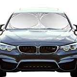 #3: Windshield Sunshade ShowTop Powerful UV Ray Deflector Car Sunshade To Keep Your Vehicle Cool (59x27.6 Inch)