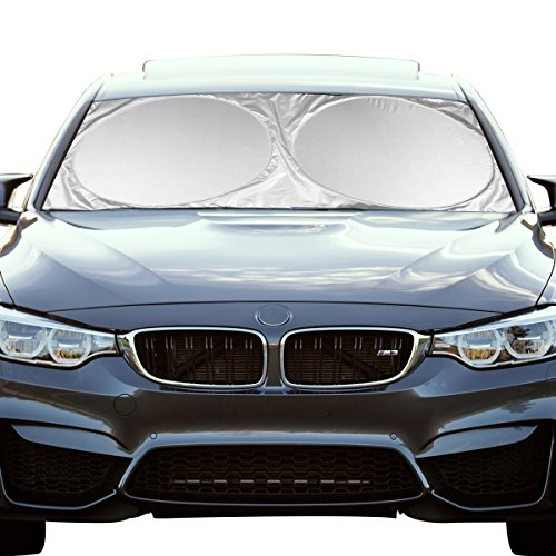 Windshield Sunshade ShowTop Powerful UV Ray Deflector Car Sunshade To Keep Your Vehicle Cool (59x27.6 Inch)