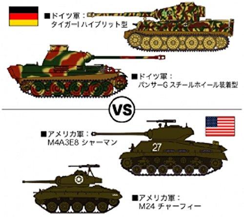 HASEGAWA 30035 1/72 Tiger I/Panther G vs. M4A3E8 Sherman/M24 Ltd