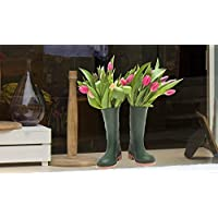 Window Stickers Bunch of Tulips in a Pair of Wellies Window Cling Sticker