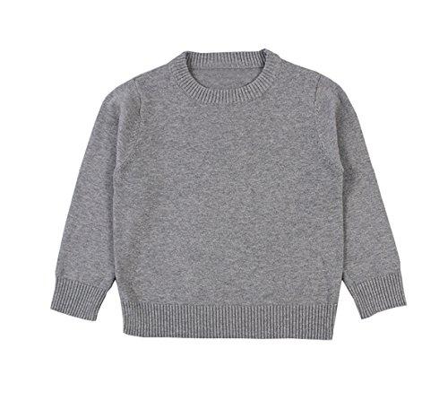 TAIYCYXGAN Baby Toddler Boys Girls Pullover Sweaters Unisex Kids Winter Kint Sweatshirts Cotton Clothes Grey 80