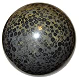 Jasper Ball Snake 06 Spotted Black Crystal Healing Stone Spirit Animal Guide Energy Sphere 3.4''