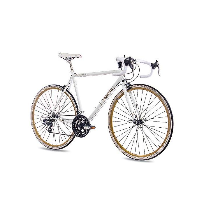 """Chrisson – Vintage Road 1.0 Bicicleta de Carretera, Tamaño 28"""" (71,1 Cm), Color Blanco Matt, 14 Velocidades Shimano"""