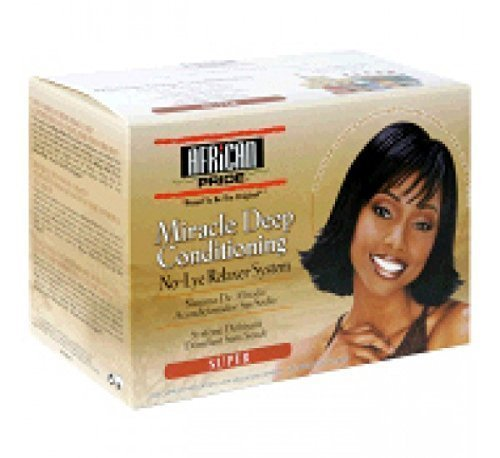 AFRICAN PRIDE Miracle Deep Conditioning No-Lye Hair Relaxer Super