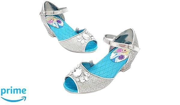 872f6f18a24ce Amazon.com: Disney Frozen Elsa Sparkle Shoes for Girls [US Size 7 ...