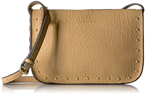 Calvin Klein Cora Bubble Lamb Novelty Crossbody, Cashew by Calvin Klein