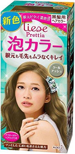 KAO Japan Liese Prettia Creamy Bubble Hair Color for Dark Hair (Cool Ash) (Best Hair Dye Brand For Asian Hair)