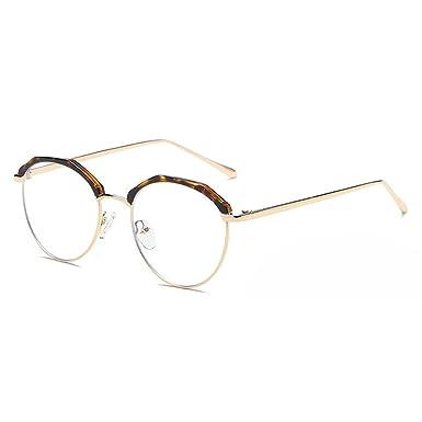 Lunettes rondes en métal, lunettes anti-lumière bleue pour hommes Lunettes de lecture pour femmes - Mxssi