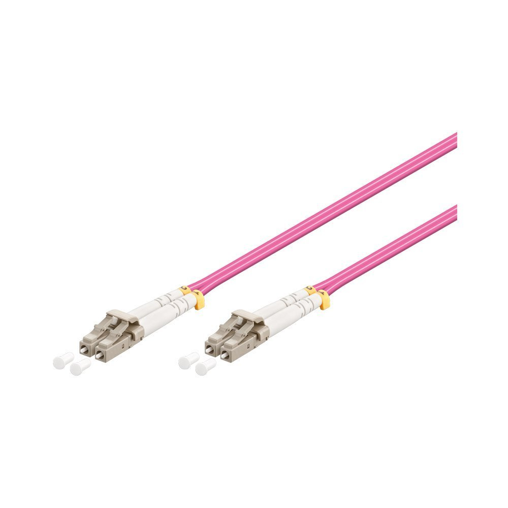 30 m LC Duplex Stecker//Stecker LWL OM4-Faser Patchkabel 50//125 /µm