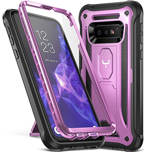 - YOUMAKER Case for Galaxy S10e, Kickstand Case with Built-in Screen Protector Heavy Duty Protection Shockproof Full Body Slim Fit Cover for Samsung Galaxy S10e 5.8 inch (2019) - Purple