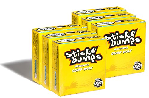 Sticky Bumps Original Surf Board Wax (Tropical, 6 Pack) (Tropical Surf Wax)