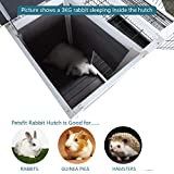 Petsfit Wood Rabbit Cage with Deeper Not Leakage