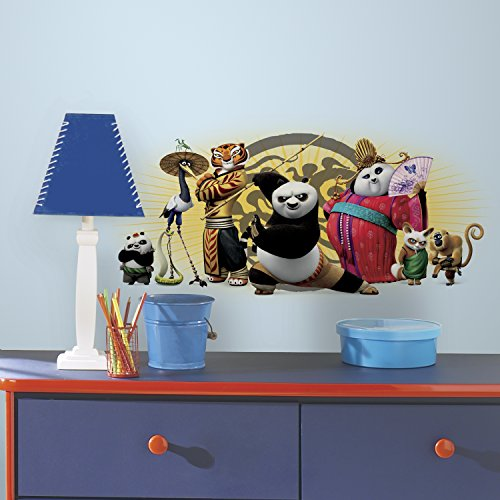 RoomMates RMK3146TB Kung Fu Panda 3 Friends Peel and Stick Giant Wall Graphic