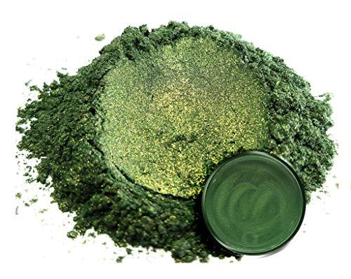 "Eye Candy Mica Powder Pigment ""Bonsai Green"" (50g) Multipurpose DIY Arts and Crafts Additive | Natural Bath Bombs, Resin, Paint, Epoxy, Soap, Nail Polish, Lip Balm"