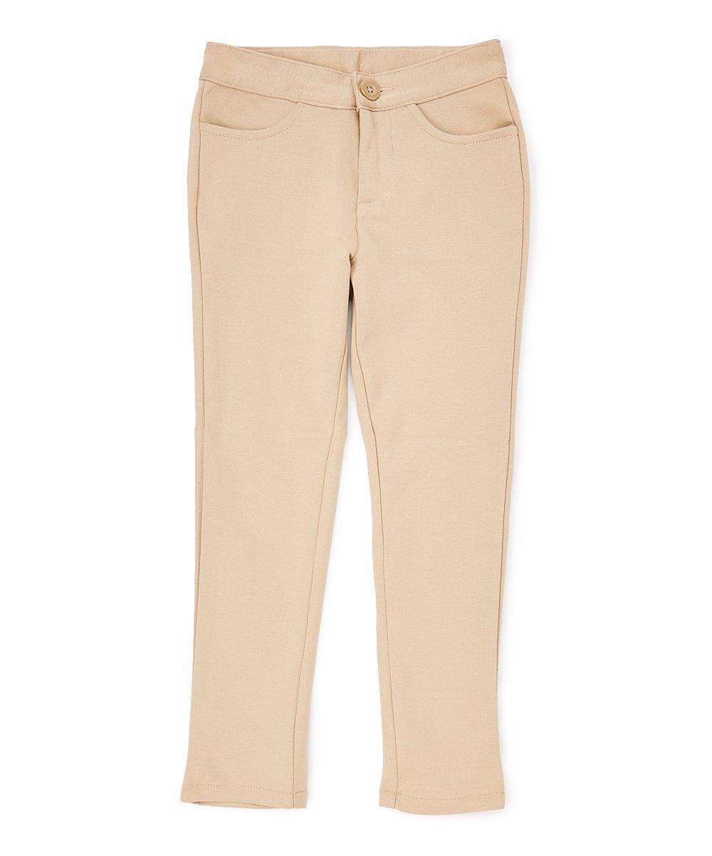 unik Girl Premium Stretch Pants, Khaki Size 4/5