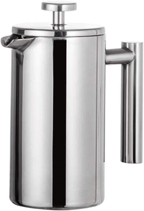 TYUIO Cafetera/Tetera con Acabado de Espejo de Acero Inoxidable de Doble Pared: Acero Inoxidable, Libre de óxido, Apta para lavavajillas (Tamaño : 800ml): Amazon.es: Hogar