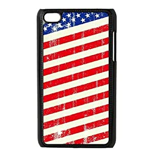 LZHCASE Diy Phone Case American Retro Flag For Ipod Touch 4 [Pattern-1]