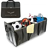 C6 Corvette Trunk Caddy Collapsible with Crossed Flags Logo