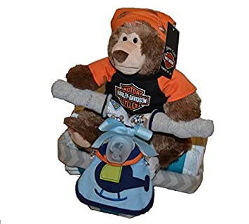 Harley Davidson Diaper Cake   Boy Harley Davidson Diaper Cake Tricycle, Harley  Davidson Motorcycle For