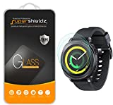[2-Pack] Supershieldz for Samsung Gear Sport Tempered Glass Screen Protector, (Full Screen Coverage) Anti-Scratch, Anti-Fingerprint, Bubble Free, Lifetime Replacement Warranty