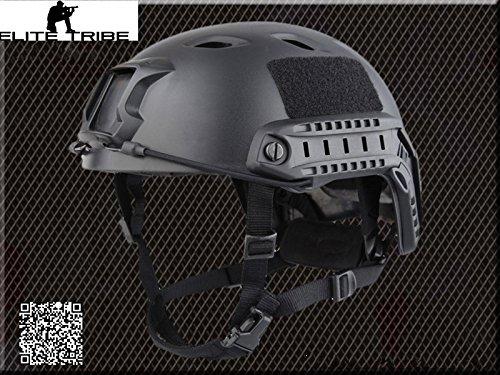 casco de airsoft paintball militar casco táctico de combate FAST BJ tipo negro Military Outdoor