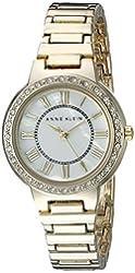 Anne Klein Women's AK/2092MPGB Swarovski Crystal Accented Gold-Tone Bracelet Watch