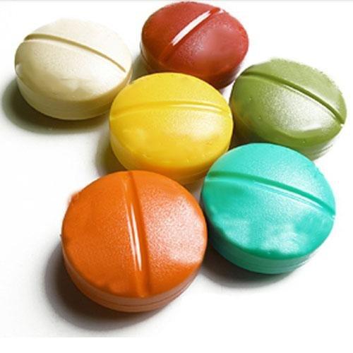 4 Médecine Tablet Hot Compartiment Organisateur Voyage stockage ronde Titulaire Pill Box