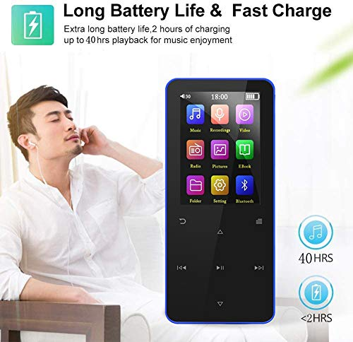 16GB Mp3 Player, Mp3 Player with Bluetooth 4.2,Upgraded Lossless Sound Sport Music Player with FM Radio/Voice Recorde/E-Book/Photo Viewer