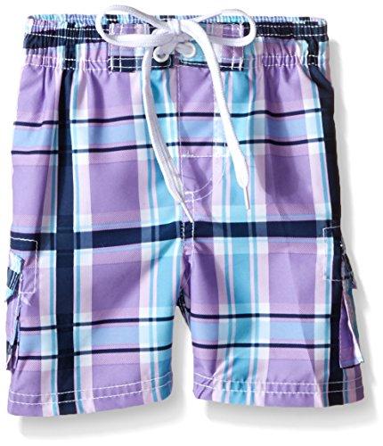 New Shorts Plaid Swim - Kanu Surf Toddler Boys' Line Up Quick Dry Beach Swim Trunk, Paradigm Purple, 4T