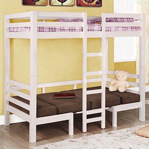 Coaster Fine Furniture 460273 Convertible Loft Bed Twin White Finish