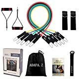 Cheap ADAFA.Z Resistance Bands Set, Home Gym Workout Bands, Fitness Training Resistance Tubes for Women Men Teens – Physical Therapy Heavy Duty Exercise Bands Set of 11