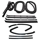 Make Auto Parts Manufacturing - Set of 12 Door Weatherstrip Rubber Seal Kit for Chevy Pickup Truck 1973-1980