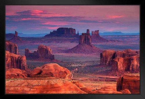 Hunts Mesa Monument Valley Utah Arizona Photo Art Print Framed Poster 20x14 inch ()