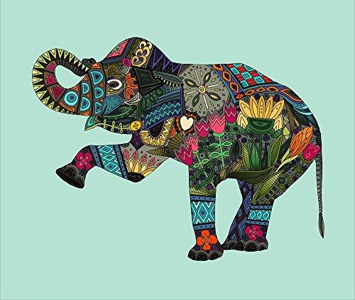 Elephant Fabric - Asian Elephant Aqua Fq Panel by scrummy...