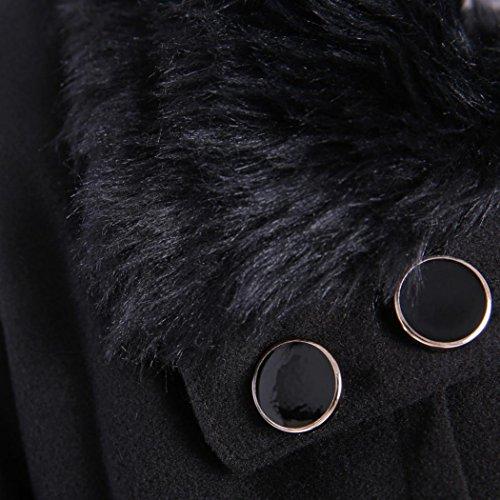 cappotto per elegante Parka lungo donne Nero Mondo cappotto le cappotto Slim Donne outwear inverno di donna donne caldo giacca le Cappotti spessore qFTxaUOwx