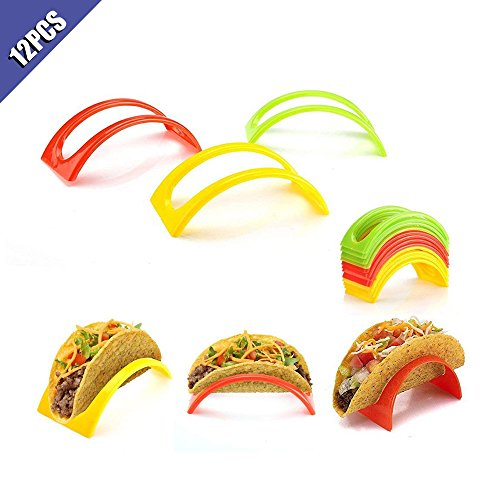 Ximimark 12 pcs Colorful Taco Holder Stand For