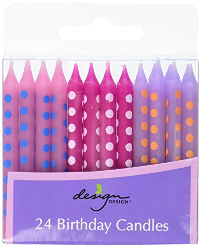 Design Design Pastel Dots Birthday Candles, (Pastel Candle)